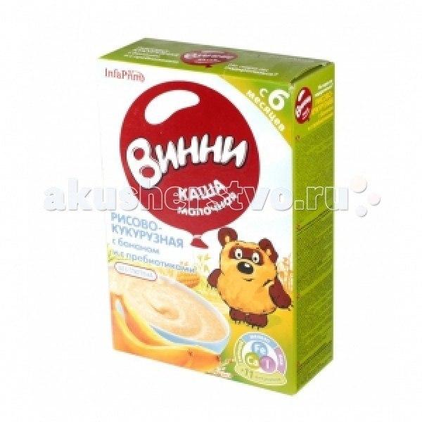Каши Каша молочная с пребиотиками Рисово-кукурузная с бананом, Винни
