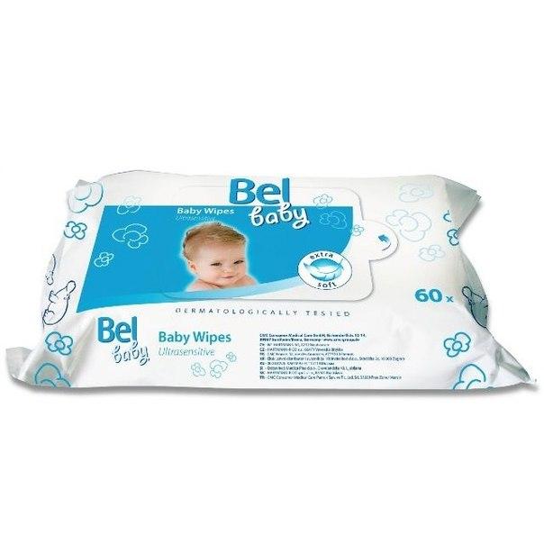 Салфетки Bel Baby wipes Влажные салфетки для чувствительной кожи, Hartmann
