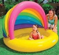 """Надувной бассейн с навесом """"радуга"""", Intex (Интекс)"""