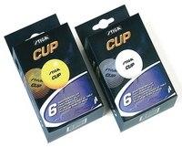 """Шарики для настольного тенниса, белые """" cup"""", 6 штук, Stiga"""