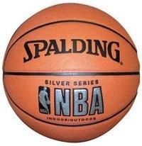 Мяч баскетбольный nba silver indoor/outdoor, размер 7, Spalding