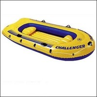 "Надувная четырёхместная лодка ""challenger-4"", Intex (Интекс)"