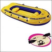 """Надувная трёхместная лодка """"challenger-3"""", 295х137х43 см, Intex (Интекс)"""