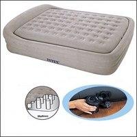 """Надувная матрас-кровать """"comfort frame"""", 241х180х56 см, Intex (Интекс)"""