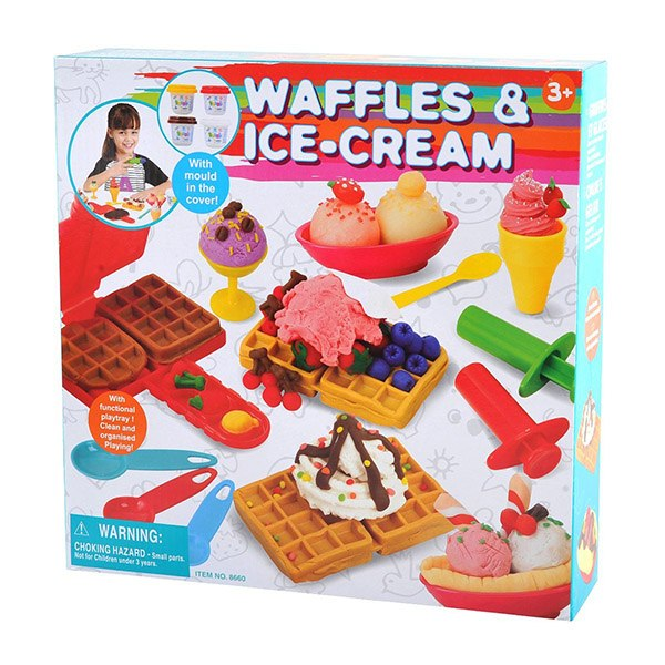 Пластилин Набор Вафли и мороженое, Playgo