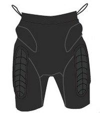 Легкие защитные шорты сноубордические (размер xl), Destroyer