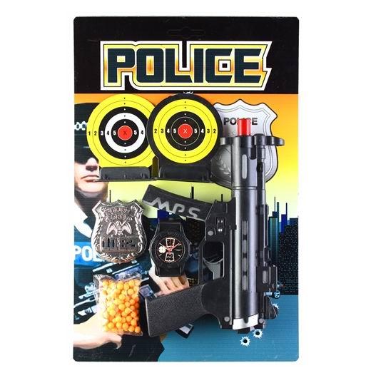 Игрушечное оружие Police Игровой набор пистолет, 2 мишени, полицейский значок, нар, Pullman