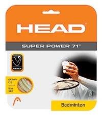 Струна для бадминтонной ракетки «super power 71», белая, Head