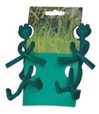 "Защелки для растений ""лягушки"", 2 штуки, Диорит XXI"
