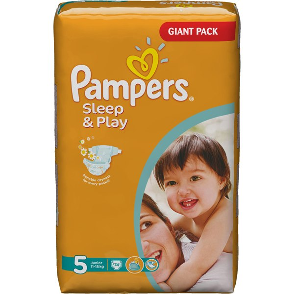 Подгузники Подгузники Sleep & Play Jumbo Ромашка (11-18 кг) 58 шт., Pampers