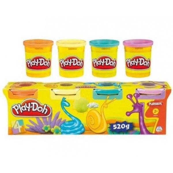 Пластилин Hasbro Набор пластилина №3 4 баночки, Play-Doh