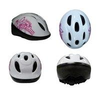 """Шлем защитный """""""" детский, бело-розовый (размер 52-56), Atemi"""