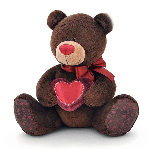 Мягкие игрушки Choco Медвежонок-мальчик музыкальный, Orange