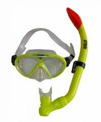 Набор детский для подводного плавания (маска+трубка) 24106, желтый неон, Atemi