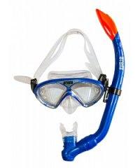 Набор детский для подводного плавания (маска+трубка) 24106, синий металлик, Atemi