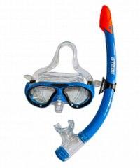 Набор детский для подводного плавания (маска+трубка) 24107, голубой, Atemi