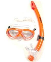 Набор детский для подводного плавания (маска+трубка) 24107, оранжевый, Atemi