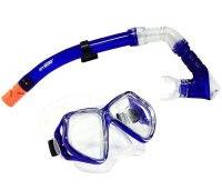 Набор для подводного плавания (маска+трубка) 24101, синий, Atemi
