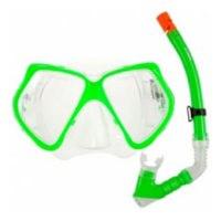 Набор для подводного плавания (маска+трубка) 24101, лайм, Atemi