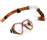 Набор для подводного плавания (маска+трубка) 24101, оранжевый, Atemi