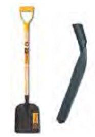 Лопата совковая песочная, с ручкой, рельсовая сталь, Россия