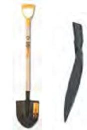 Лопата штыковая универсальная, с ручкой, рельсовая сталь, Россия