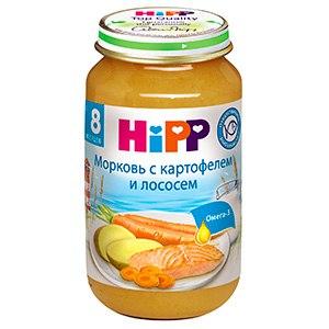 Пюре Пюре морковь с картофелем и лососем с 8 мес. 220 г, Hipp