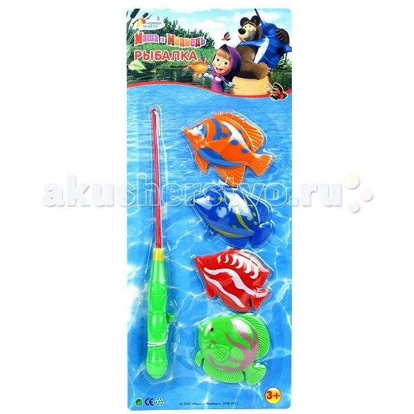 Игрушки для купания Игра Рыбалка Маша и Медведь B526466-R2, Играем вместе