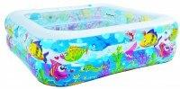 "Надувной детский бассейн ""see world square pool"", 145x145x45 см, Jilong"