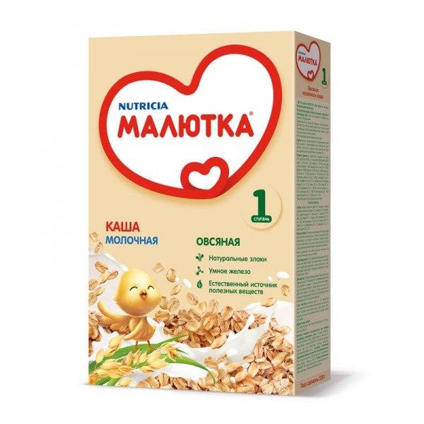 Каши Молочная каша овсяная с 5 мес. 220 г, Малютка