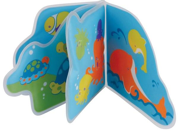 Игрушки для купания Книжка-пищалка для ванной Подводное путешествие, Мир детства