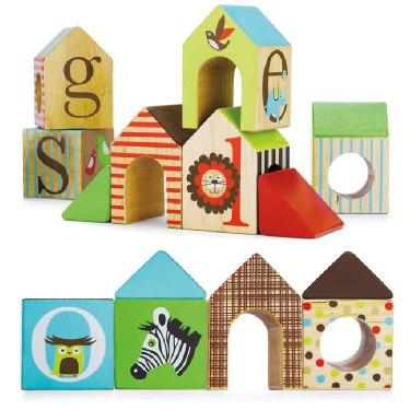 Деревянные игрушки Кубики Alphabet House Block, Skip-Hop