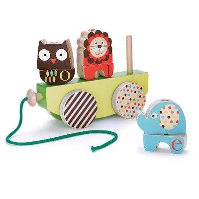 Деревянные игрушки Каталка Alphabet Stack Roll & Pull, Skip-Hop