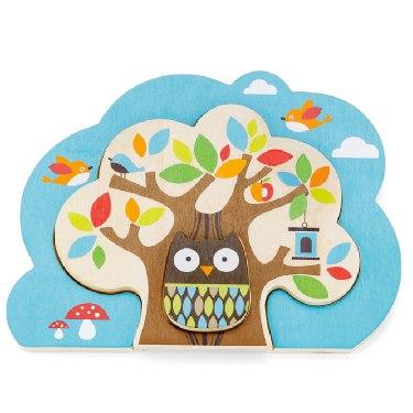 Деревянные игрушки Пазл Treetop Nesting Tree Puzzle, Skip-Hop