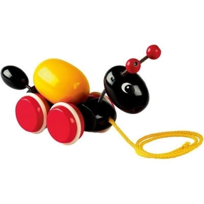Деревянные игрушки Каталка Муравей на веревочке, Brio