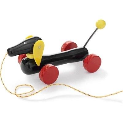 Деревянные игрушки Каталка Такса на веревочке, Brio