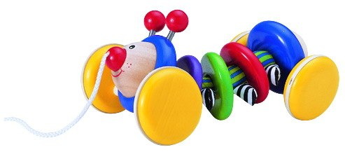 Деревянные игрушки Каталка Жук, Wonderworld