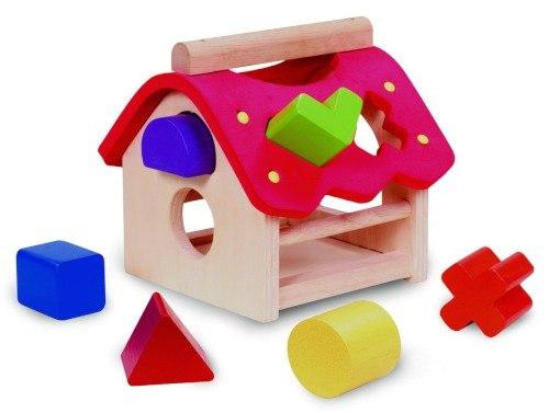 Деревянные игрушки Сортер Домик, Wonderworld