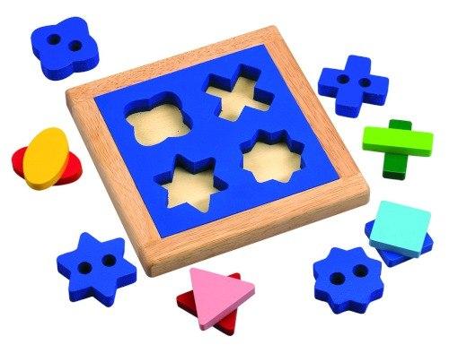 Деревянные игрушки Геометрический пазл-сортер, Wonderworld