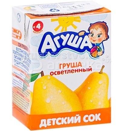 Соки и напитки Сок детский осветленный без сахара Груша 200 мл, Агуша