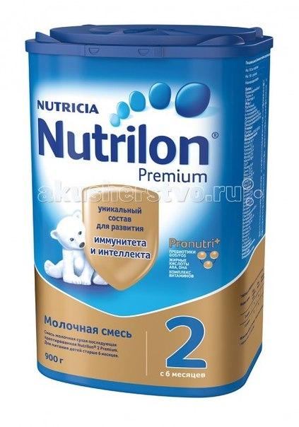 Молочные смеси Заменитель 2 пребиотики с 6 мес 900 гр картон, Nutrilon