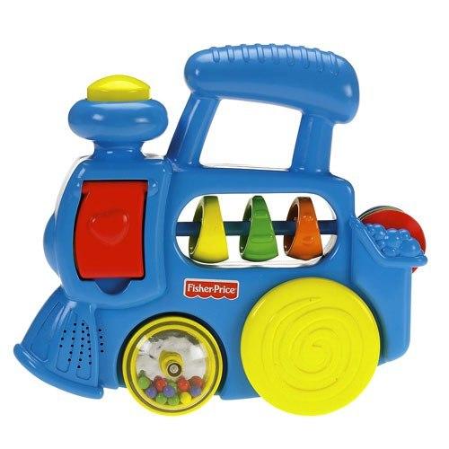 Электронные игрушки Блестящие основы Паровозик, Fisher Price
