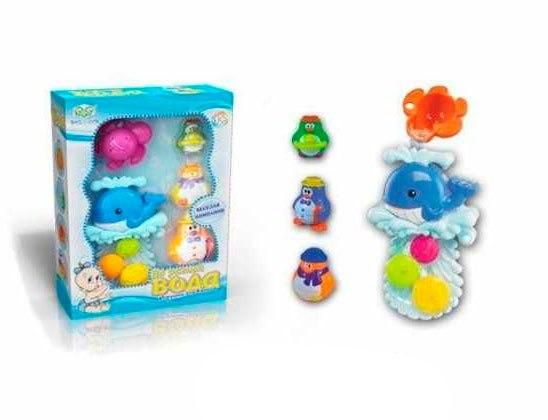 Игрушки для купания Игрушка для ванной Кит и пингвины, веселая компания, Roxy