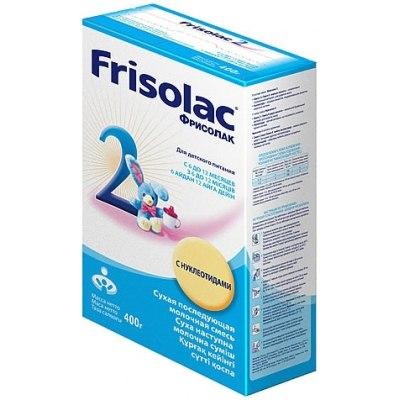 Молочные смеси Заменитель Фрисолак с нуклеотидами 400 г 6-12 мес.(картон), Friso