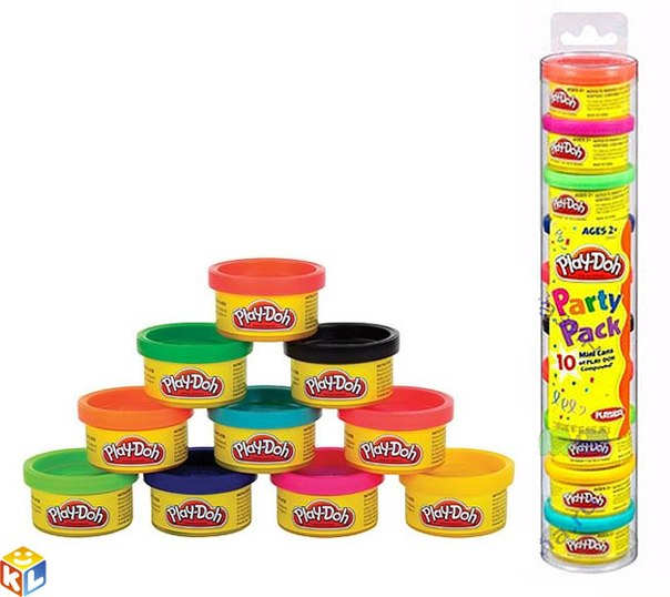 Пластилин Hasbro Набор пластилина для праздника в тубусе, Play-Doh