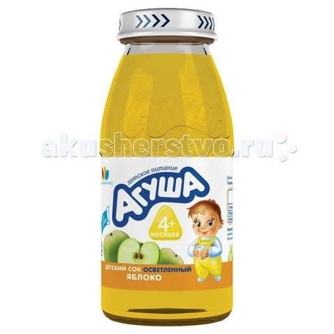Соки и напитки Сок осветлённый без сахара Яблоко 150 мл, Агуша