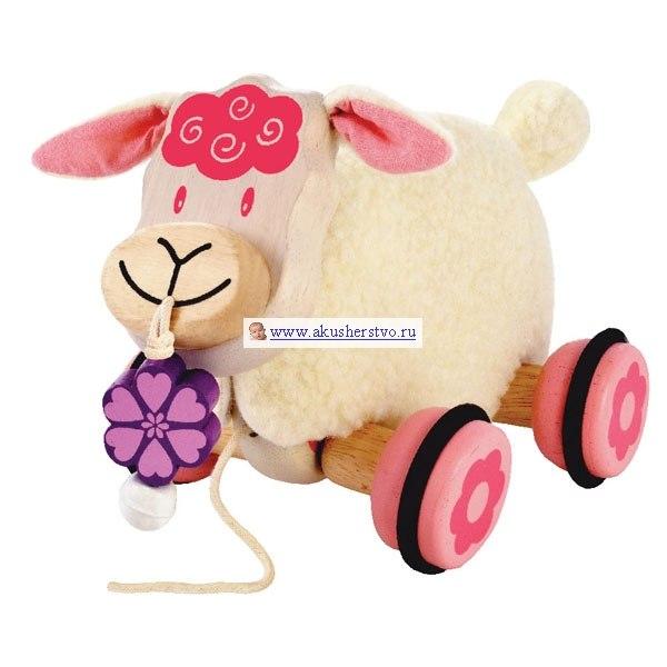 Деревянные игрушки Каталка Коровка, I'm toy