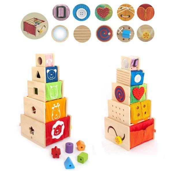 Деревянные игрушки Набор для изучения цвета, форм и размеров, I'm toy