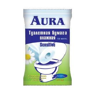 Салфетки Влажная туалетная бумага 20 шт., Aura