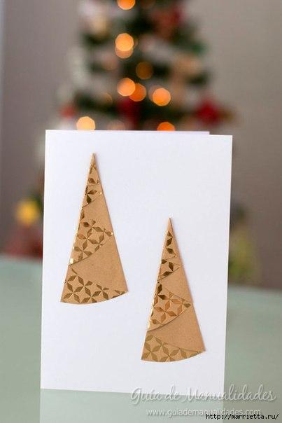 Простые идеи создания новогодних открыток, которые можно сделать вместе с детьми